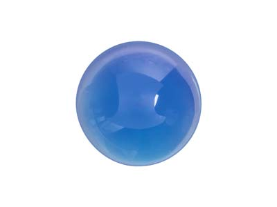 Cabochon Tondo In Agata Blu, 10 MM