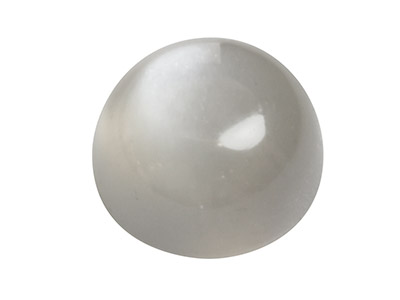 Selenite, Cabochon Tondo, 8 Mm, Grigio