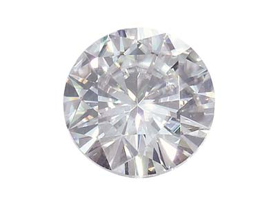 Moissanite, Tonda, Ottima Qualità, 6 Mm, 0,68 Ct, Equivalenza Diamante 0,8 Ct