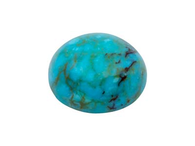 Matrice Di Turchese Cinese, Cabochon Tondo, 10 MM