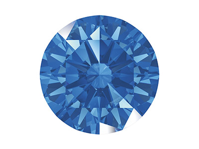 Swarovski Zirconia, Taglio Pure Brilliance Tondo,2 Mm, Blu