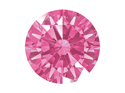 Swarovski Zirconia, Taglio Pure Brilliance Tondo, 3 Mm, Rosa