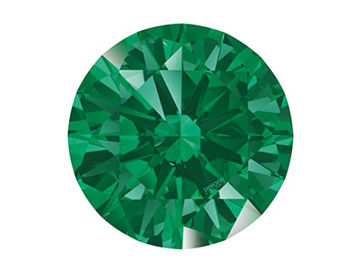 Swarovski Zirconia, Taglio Pure Brilliance Tondo, 5 Mm, Verde