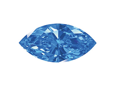 Swarovski Zirconia, Taglio Pure Brilliance Marquise, 5 X 2,5 Mm, Blu