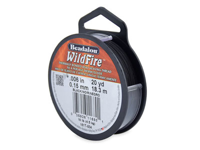 Filo Beadalon Wildfire, 0,15 MM X 18,3 M, Nero