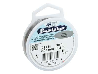 Filo Beadalon A 49 Filamenti, 0,53 MM X 9,2 M, Luminoso