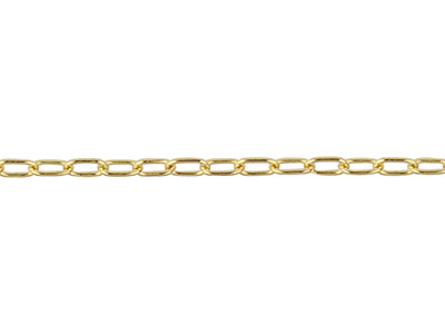 Catena Forzatina Media Piena A Metro, 1,7x2,8 Mm, Oro Da 14 Ct